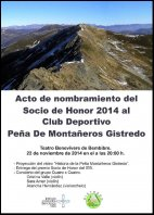 Cartel Socio de Honor 2014